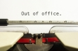 Out of office concept, for business communication.